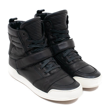 Leather High Top Sneakers BALMAIN