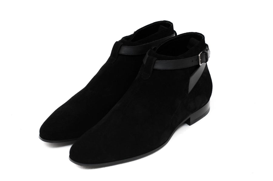 London Jodhpur 20 Black Suede SAINT LAURENT