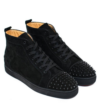 Lou Flat Suede Black Spikes CHRISTIAN LOUBOUTIN