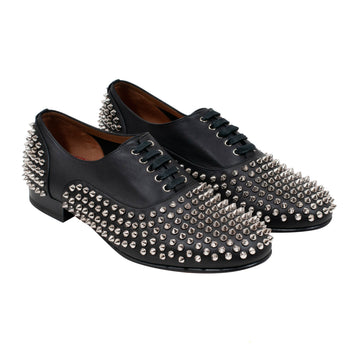 Louis Junior Spikes Flat Veau Velours CHRISTIAN LOUBOUTIN