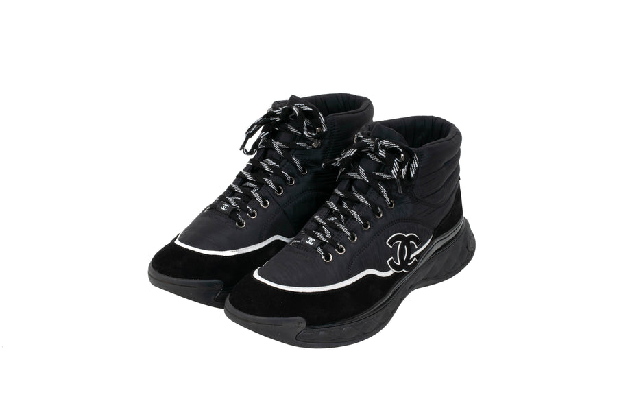 Mid Top Sneakers (Black) CHANEL