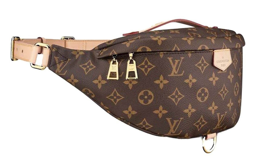 Monogram Bumbag LV Logo Brown Fanny Pack Shoulder Bag LOUIS VUITTON
