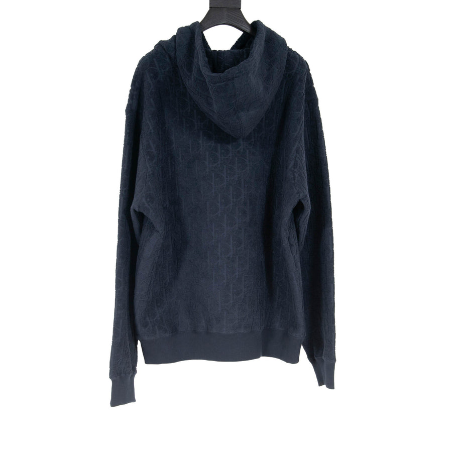 Oblique Terry Cloth Hoodie (Navy) DIOR