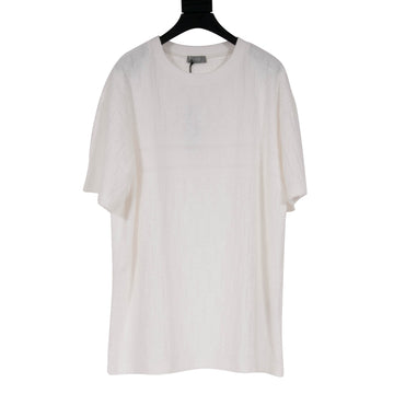 Oblique Terry Cloth T Shirt (White) DIOR