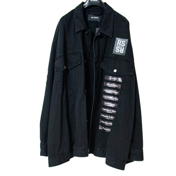 Oversized Black Denim Jacket RAF SIMONS