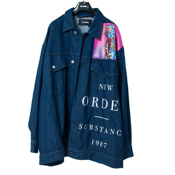 Oversized Denim Jacket New Order RAF SIMONS