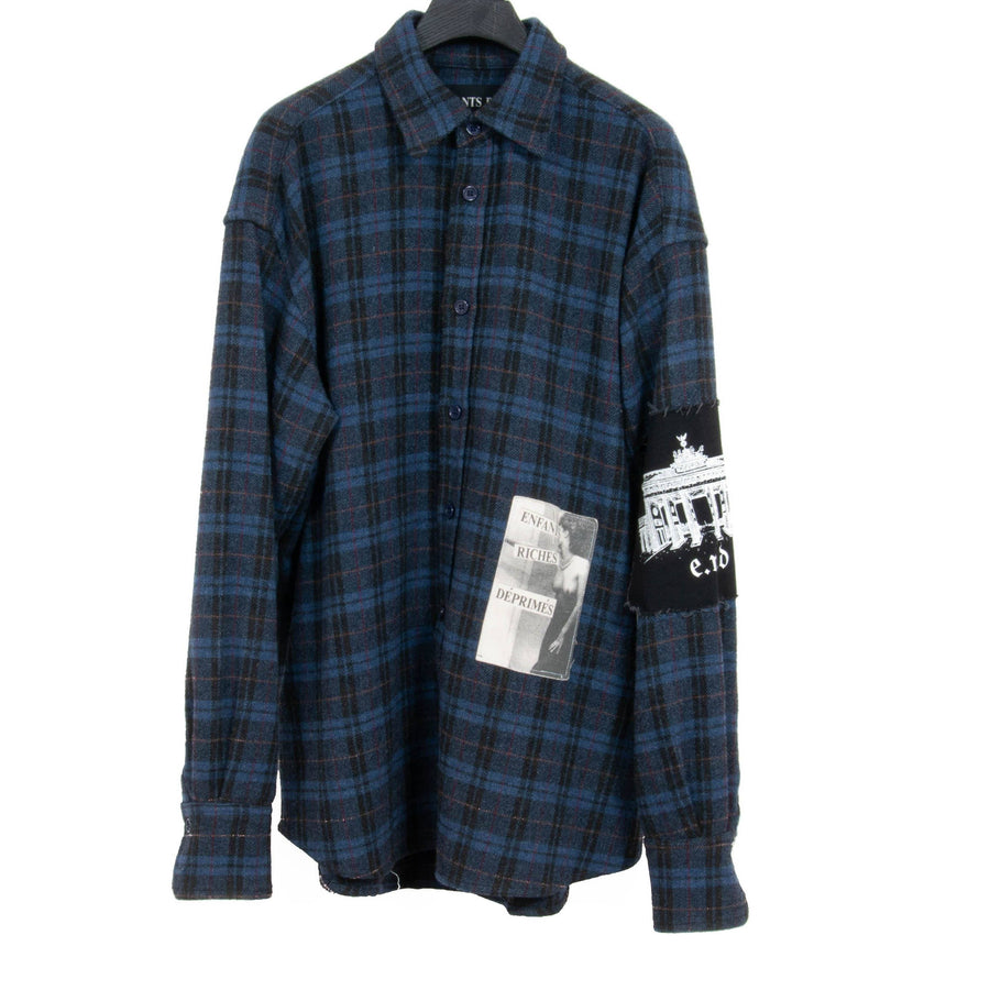 Oversized Wool Flannel ENFANTS RICHES DÉPRIMÉS
