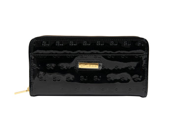 Patent Leather Zip Wallet St. John