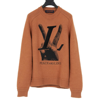Peace & Love Crewneck Sweater LOUIS VUITTON