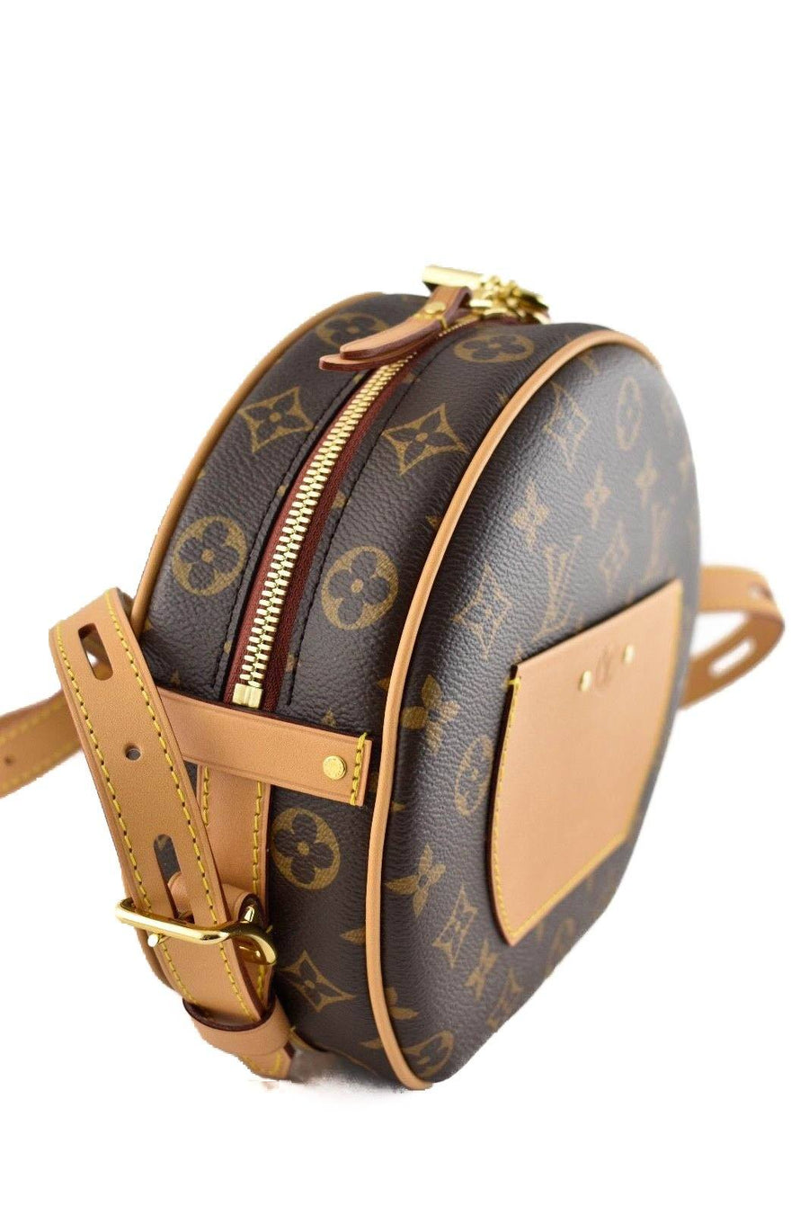 Petite Boite Chapeau Souple Monogram LV Brown Mini Hat Box Bag LOUIS VUITTON