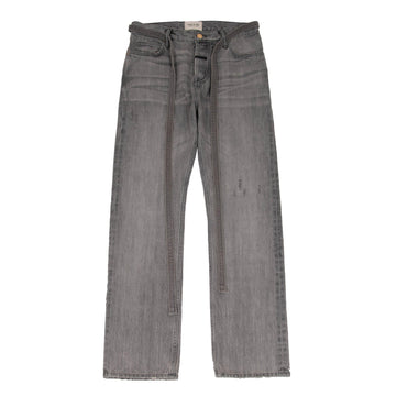Relaxed Fit Selvedge Denim Jeans (Gray) FEAR OF GOD