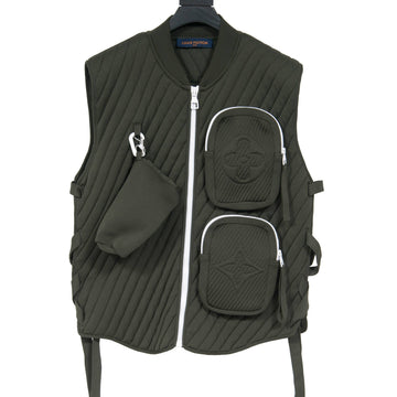 Ribbed Utility Gilet (Dark Green) LOUIS VUITTON