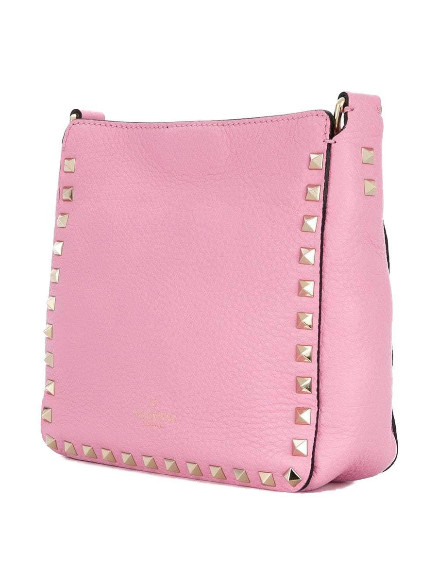Rockstud Pink Rose Mini Leather Shoulder Strap Messenger Crossbody Bag VALENTINO