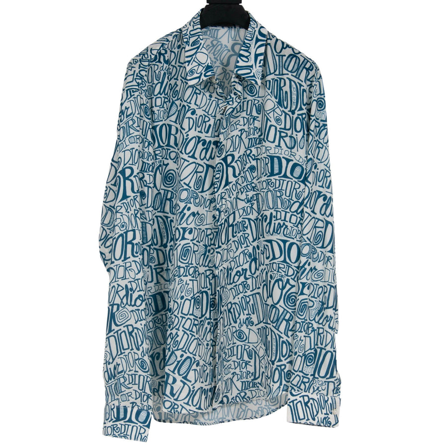 SHAWN X DIOR All Over Print Button Down DIOR