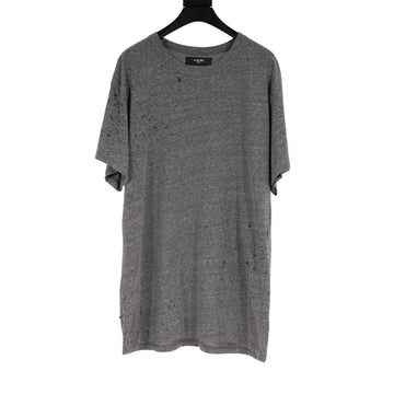 Shotgun Distressed Tee (Gray) Amiri