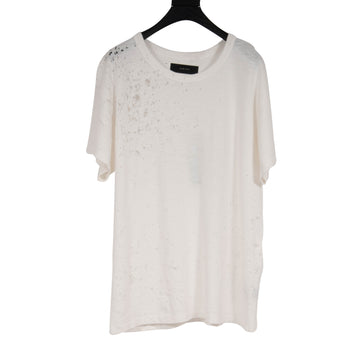 Shotgun Distressed Tee Shirt (White) Amiri