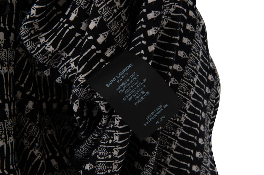 Skeleton Printed Viscose Shirt SAINT LAURENT