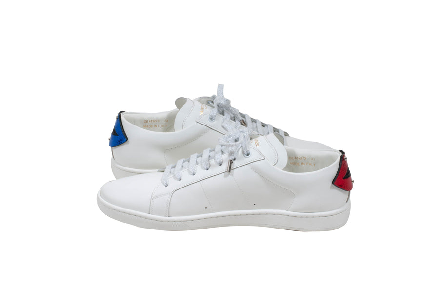 SL/01 Court Classic Lips (White) SAINT LAURENT
