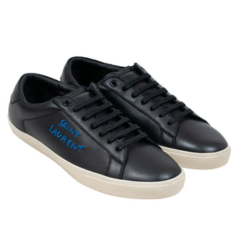 SL/06 Logo Sneakers (Black/Blue) SAINT LAURENT