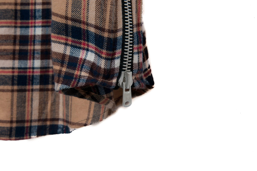 Sleeveless Side Zip Flannel FEAR OF GOD
