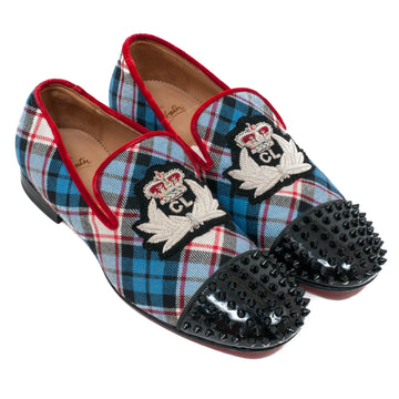 Spiked Captoe Plaid Loafer CHRISTIAN LOUBOUTIN