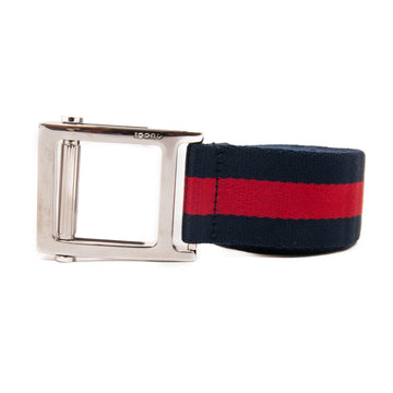 Square Canvas Buckle Belt GUCCI