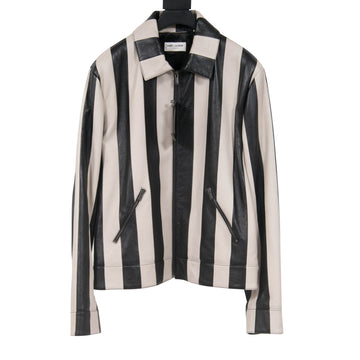 Striped Leather Jacket SAINT LAURENT