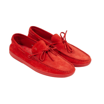 Suede Moccasin Loafer (Red) Tod's