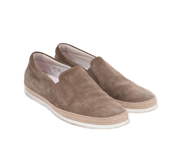 Suede Slip On Sneakers (Tan) Tod's