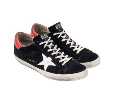 Superstar Distressed Suede Sneakers (Navy) Golden Goose