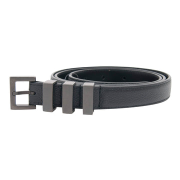 Three Passant Blackened Slim Belt SAINT LAURENT