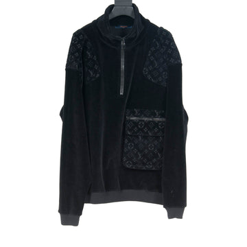 Velour Half Zip Monogram Jacket LOUIS VUITTON