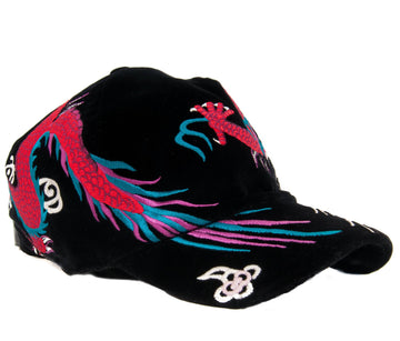 Velvet Dragon-Embroidered Baseball Cap GUCCI