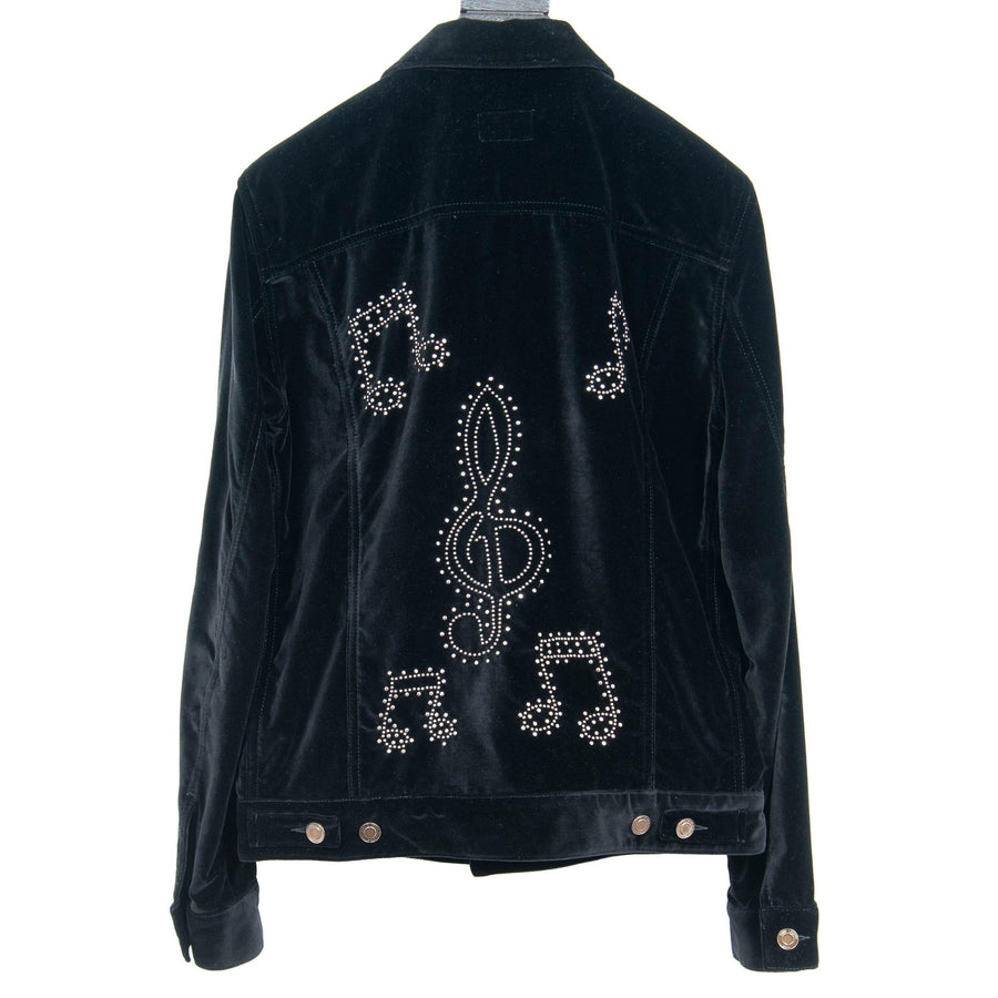 Velvet Music Notes Jacket SAINT LAURENT