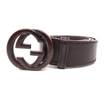 Wooden Double G Belt GUCCI