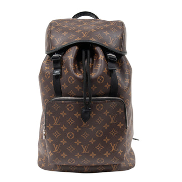 Zack Backpack Monogram Macassar Canvas (Brown) LOUIS VUITTON
