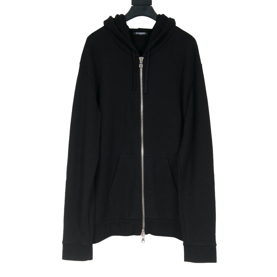 Zip Up Hoodie (Black) BALMAIN