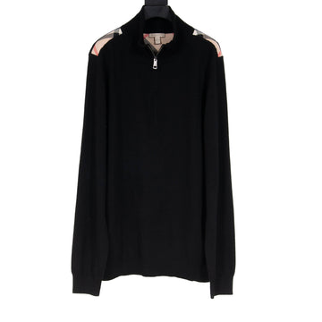 Zipped Crewneck (Black) Burberry