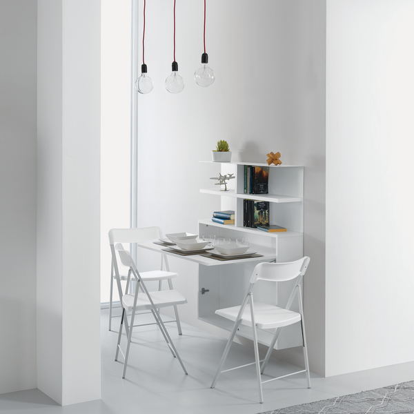 Ensemble mini ~ wall mounted table + chairs - SPACEMAN