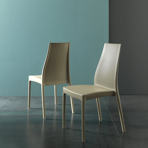 Poise ~ stackable indoor/outdoor dining chair