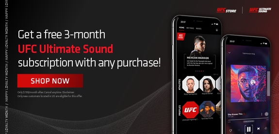 Get a free 3-month UFC ultimate sound subscription with any purchase! Shop now