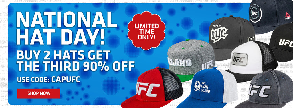 National Hat Day! Buy 2 hats, get the third 90% off use code CAPUFC shop now