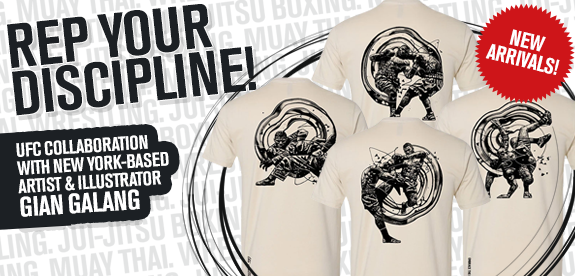 Rep your discipline! UFC collaboration with New York-based artist and illustrator Gian Galang