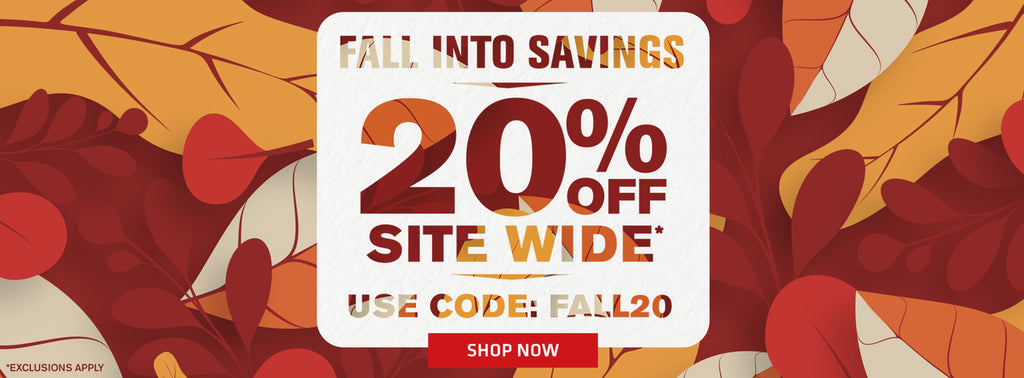Fall into savings 20% off sitewide use code FALL20 shop now exclusions apply