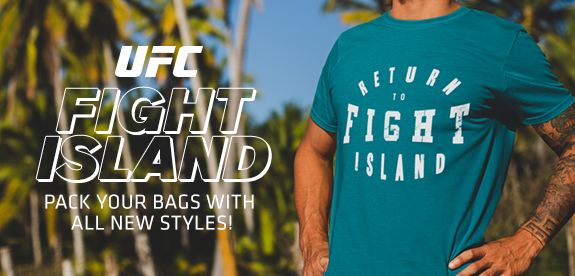 UFC Fight island pack your bags with all new styles!