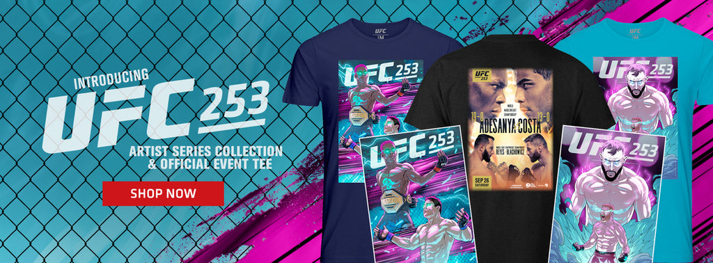 Introducing UFC 253 artist series collection and official event tee shop now