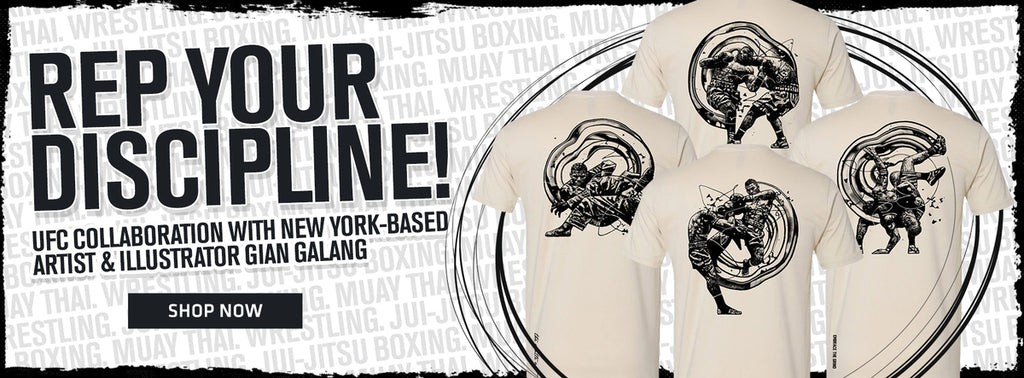 Rep your discipline! UFC collaboration with New York-based artist and illustrator Gian Galang Shop Now