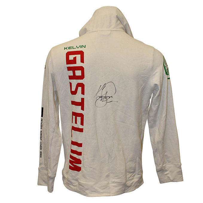 Kelvin Gastelum Autographed Event Worn Hoodie from UFC Fight Night: Figueiredo vs. Benavidez 2  - Yas Island, Abu Dhabi