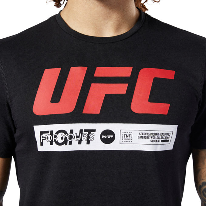 UFC Reebok Fan Gear Fight Week T-Shirt - Black
