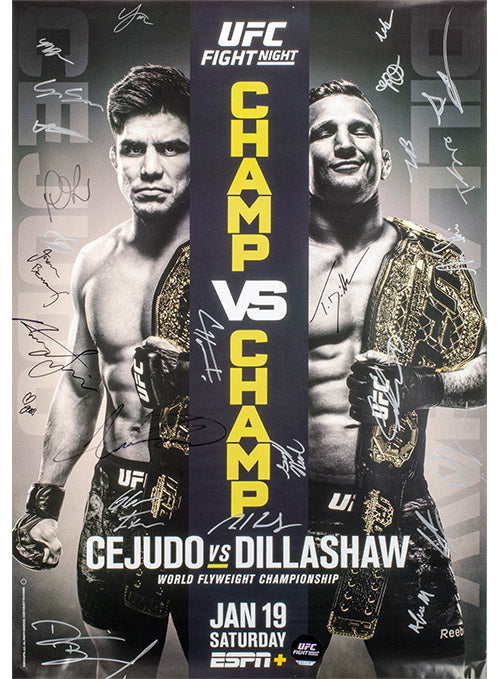 UFC Fight Night, Brooklyn, Autographed Event Poster